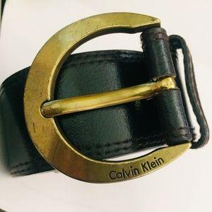 ❤ Calvin Klein Brown Leather Belt ❤
